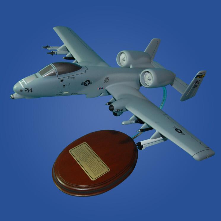 Fairchild Republic A-10 Warthog (Air National Guards) 1/57 Desktop Model Aircraft