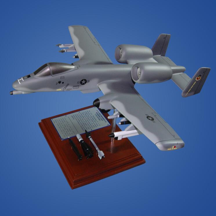 A-10A Thunderbolt 1/55 Wood Model Plane