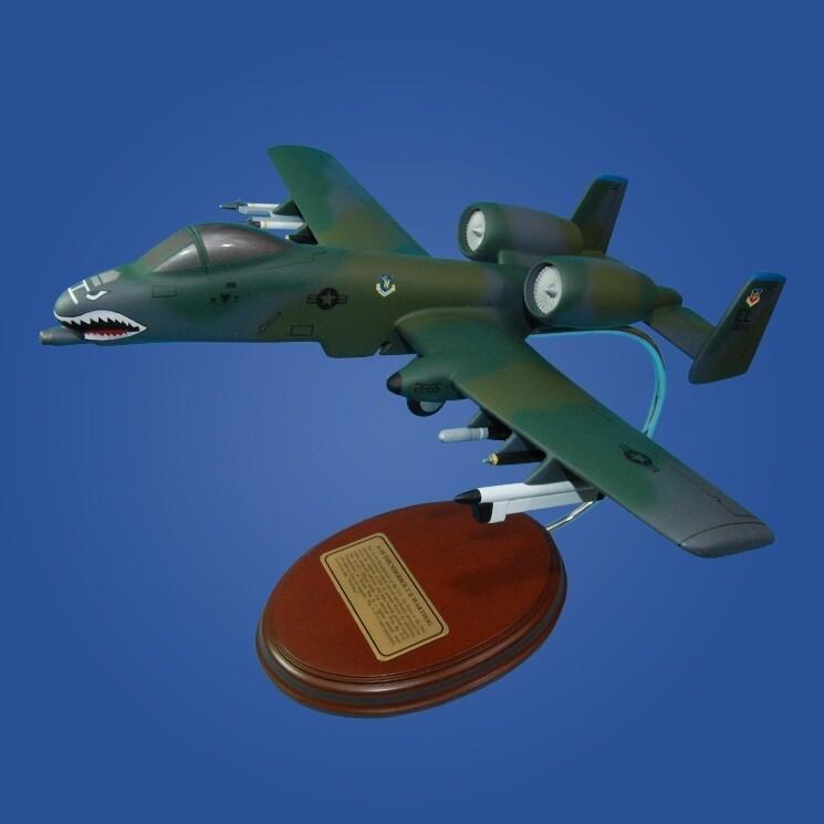 A-1A-10 Warthog 'Flying Tigers'  Desktop Wood Model Plane Display