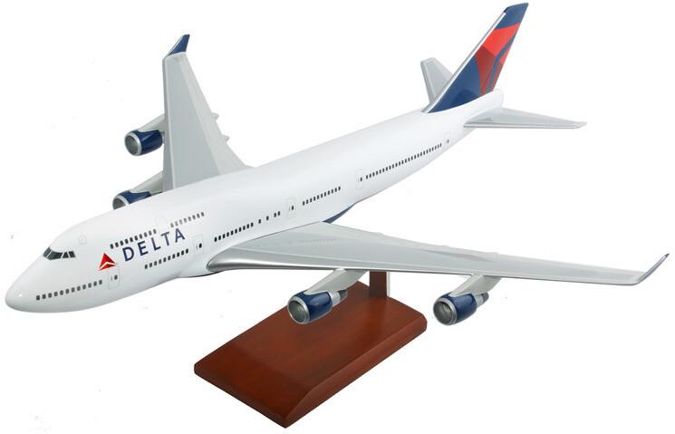 A747-400 Delta Model Airplane