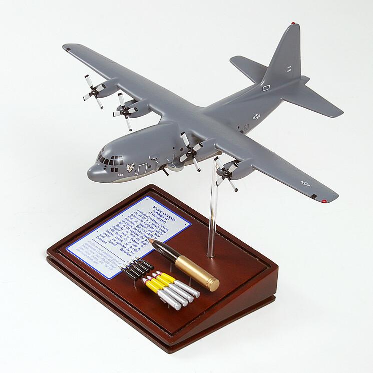 AC-130U Spooky Gunship Wood Model Plane