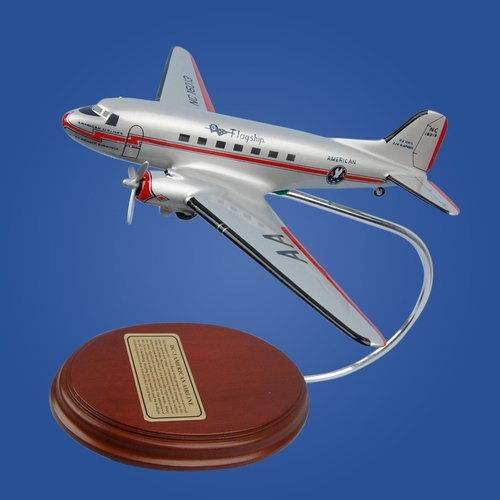 DC-3 American Airlines Wood Model Airplane