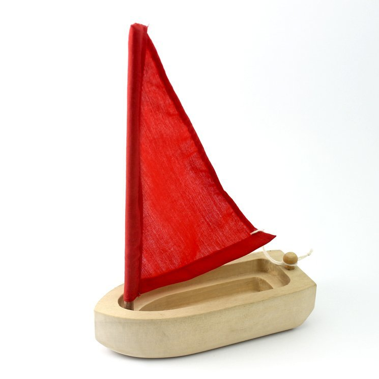 Wooden Toy Boat 6.5 Inches (length)