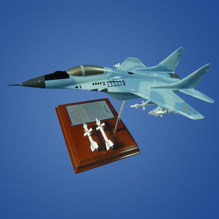 MiG-29 Fulcrum 1/54 Wood Plane Model with Scale Ammunition
