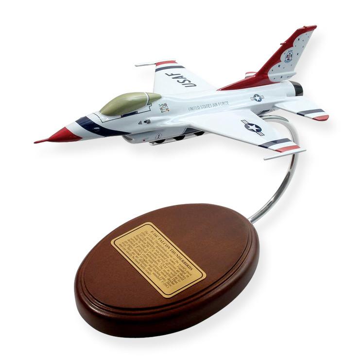 F-16 Fighting Falcon (Thunderbirds) 1/69 Desktop Model Aircraft (Small)