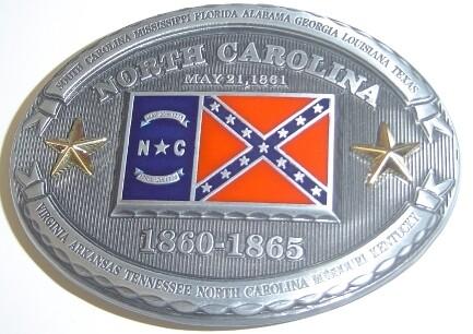 North Carolina Confederate Belt Buckle