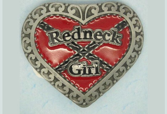 Redneck Girl w/ Heart Belt Buckle