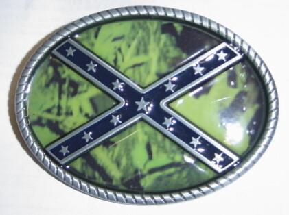 Camo Battle Flag Belt Buckle