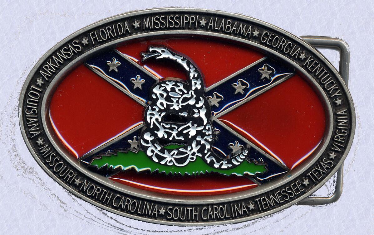 Don't Tread On Me Confederate Belt Buckle