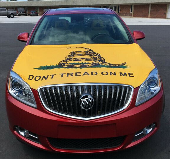 Spandex Don't Tread On Me Hood Cover
