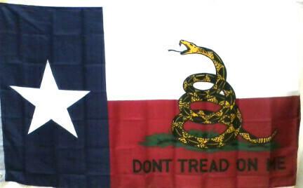 Gadsden Texas Combo Flag