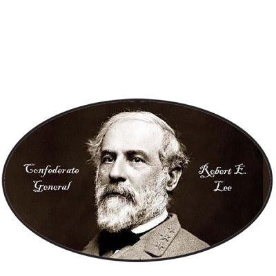 General Robert E Lee Oval Sticker by Dixie Outfitters®