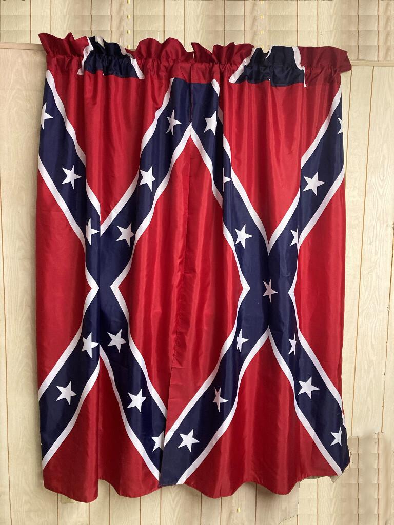 Confederate Flag Window Curtains