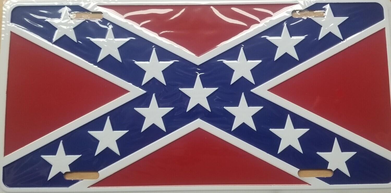 Battle Flag License Plate