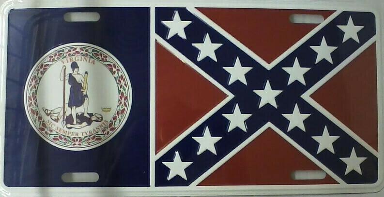 Virginia Battle Flag Combo Tag