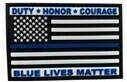 US Flag with Blue Line Blue Lives Matter