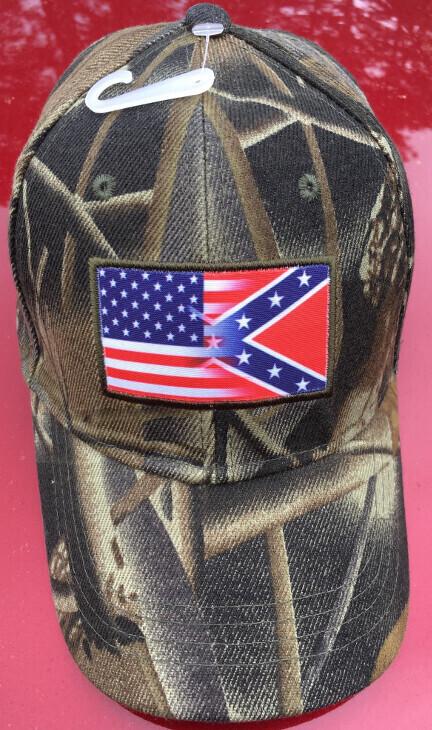 American Confederate 50/50 Flag Cap