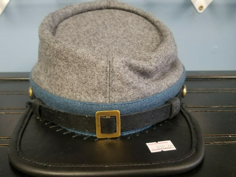 Grey Confederate Wool Kepi