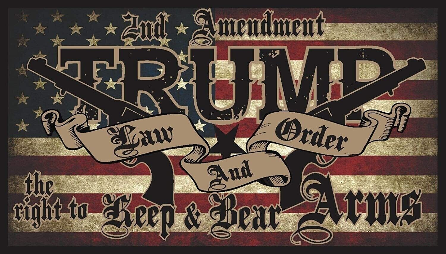 Trump Law and Order Flag