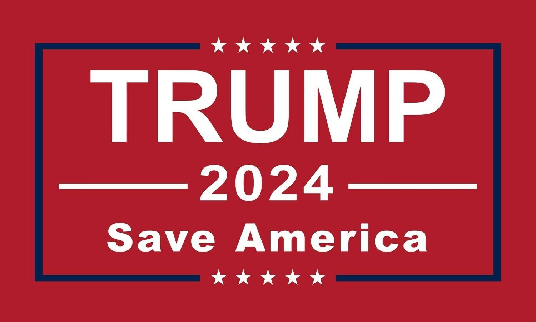 Trump 2024 - Save America Flag
