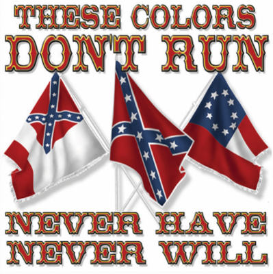 These Colors Don't Run Square Sticker by Dixie Outfitters®