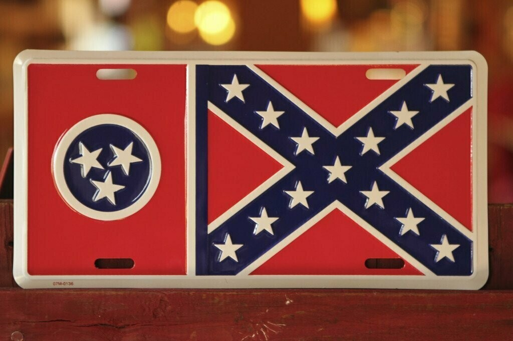 Tennessee Battle Flag License Plate
