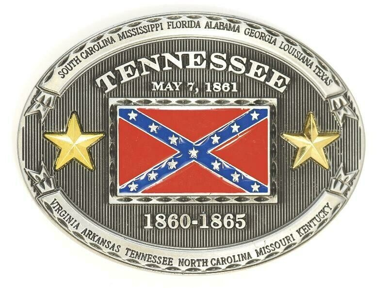 Tennessee Confederate Belt Buckle