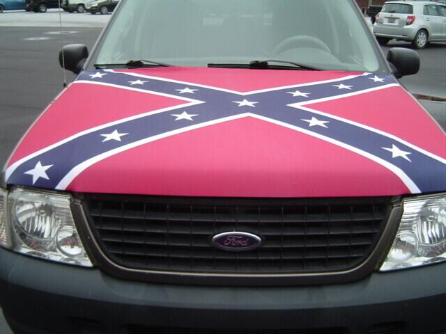 Spandex Battle Flag Hood Cover