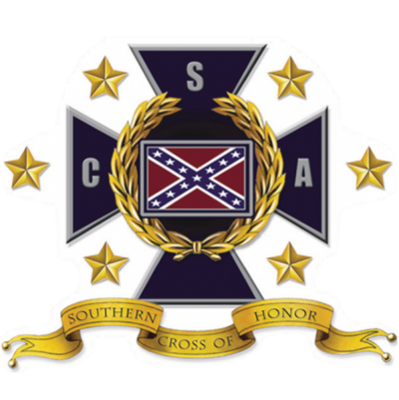 Southern Cross of Honor Oval Sticker by Dixie Outfitters®