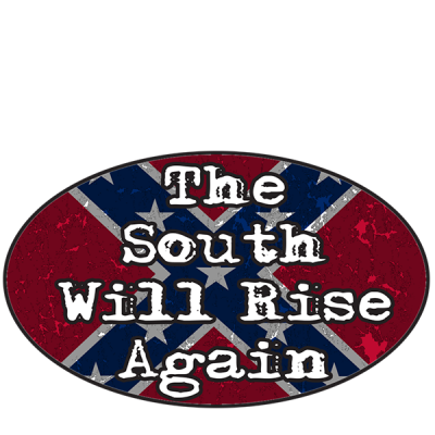 The South Will Rise Again Oval Sticker by Dixie Outfitters®