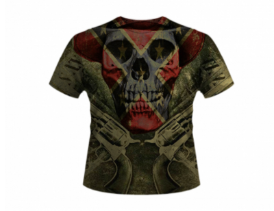 Skull All Over Shirt By Dixie Outfitters®