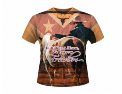 Riding A Horse All Over Shirt By Dixie Outfitters®