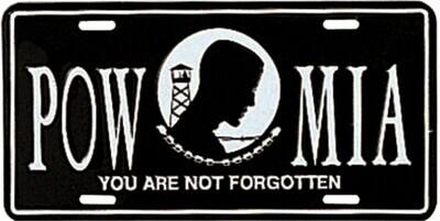 POW / MIA Military Car Tag