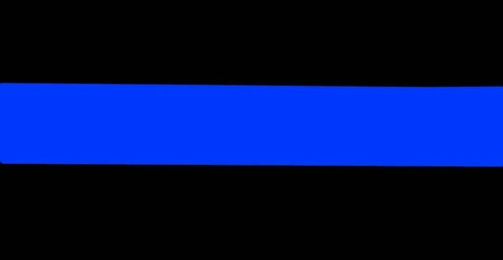 Police Thin Blue Line License Plate
