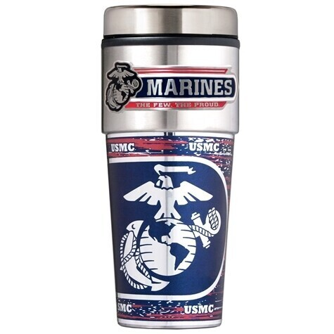 Marine Corps Stainless Steel 16 oz Tumbler
