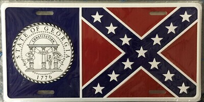 Georgia Flag License Plate