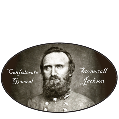 General Stonewall Jackson Oval Sticker by Dixie Outfitters®