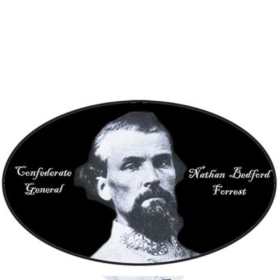General Nathan B. Forrest - Oval Sticker by Dixie Outfitters®