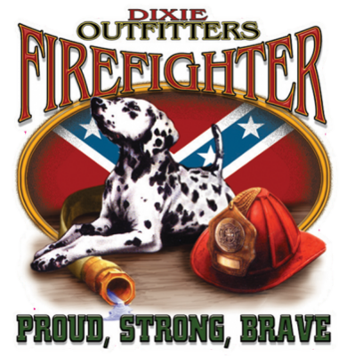 Firefighter Square Sticker by Dixie Outfitters