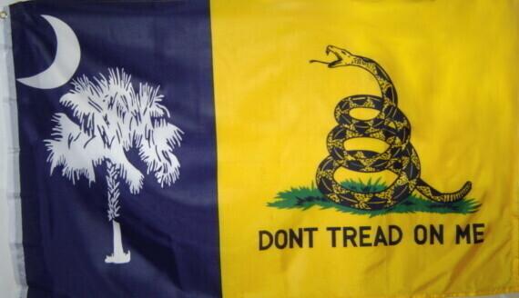 Gadsden South Carolina Combo Flag