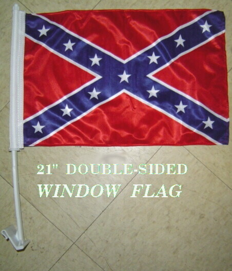 Double-Sided Woven Auto Window Flag
