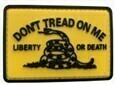 Don't Tread on Me, Liberty or Death PVC Patch