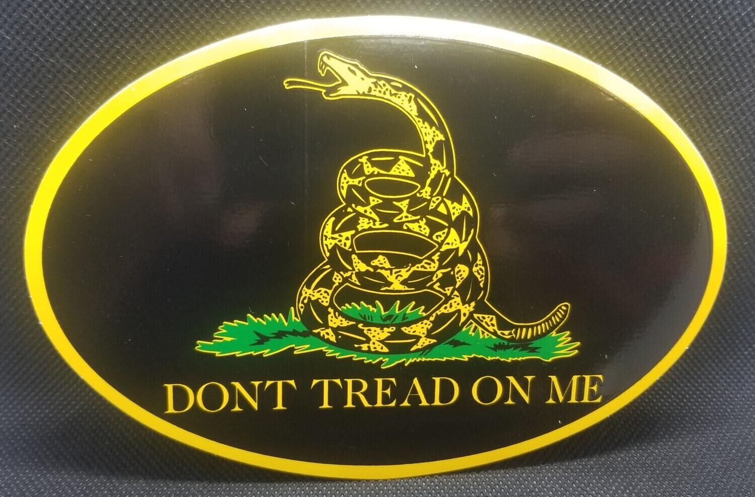 Don't Tread On Me - Oval Sticker - Tactical
