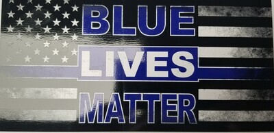 Distressed Blue Lives Matter - Rectangle Sticker