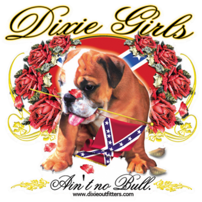Dixie Girls Puppy Sticker by Dixie Outfitters®