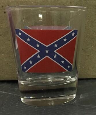 Confederate Flag Shot Glass