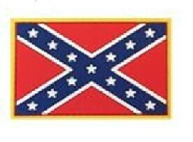 Confederate Battle Flag PVC Patch Full Color