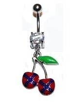 Confederate Cherries Belly Ring
