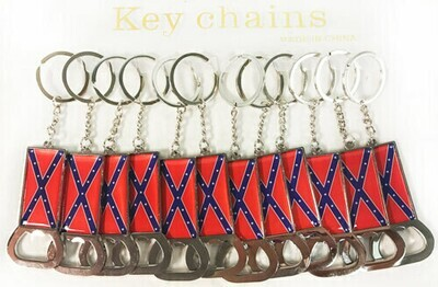 Confederate Bottle Opener Key Chain