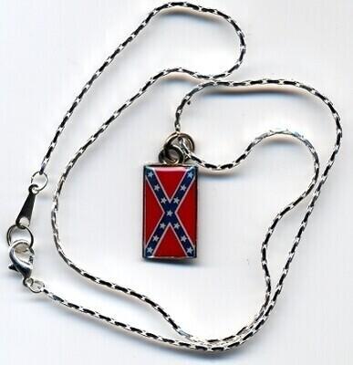 Confederate Battle Flag Necklace